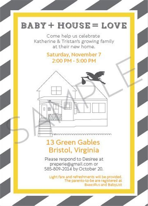 Baby Shower And Housewarming Together by Joint Housewarming Baby Shower Invitation Preperie
