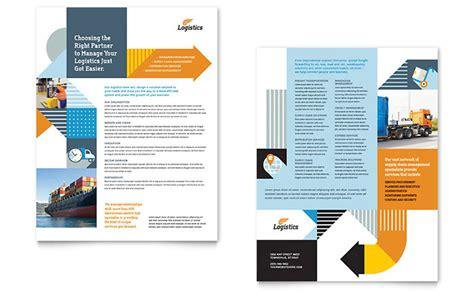 sales slick template logistics warehousing datasheet template design