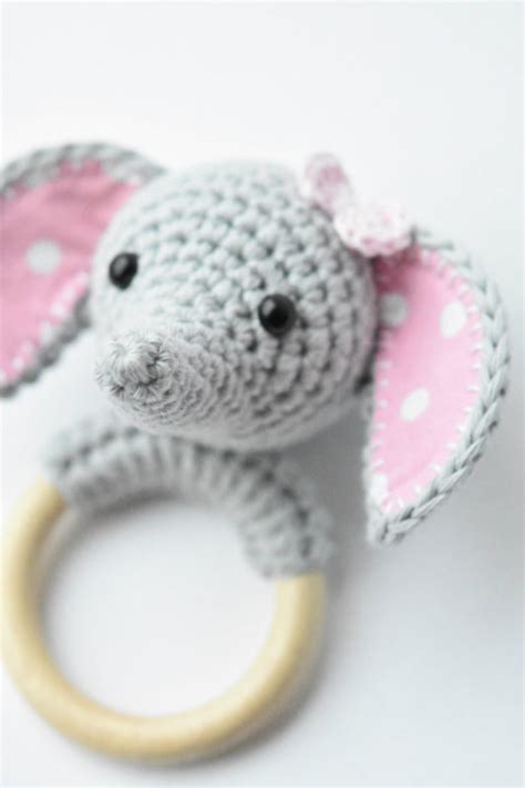 amigurumi ring pattern amigurumi elephant teething ring lilleliis