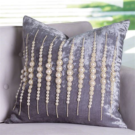 global pillows global views strands of pearls pillow
