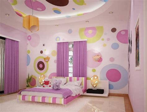 colorful wallpaper bedroom cheerful minimalist teen bedroom interior design ideas