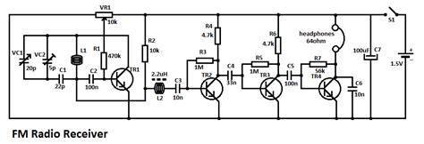 fm radio receiver circuit diagram pdf fm radio receiver circuit