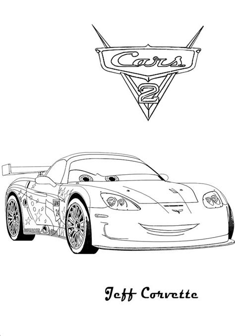 cars 2 coloring pages jeff gorvette cars and cars 2 coloring pages coloring pages wallpapers
