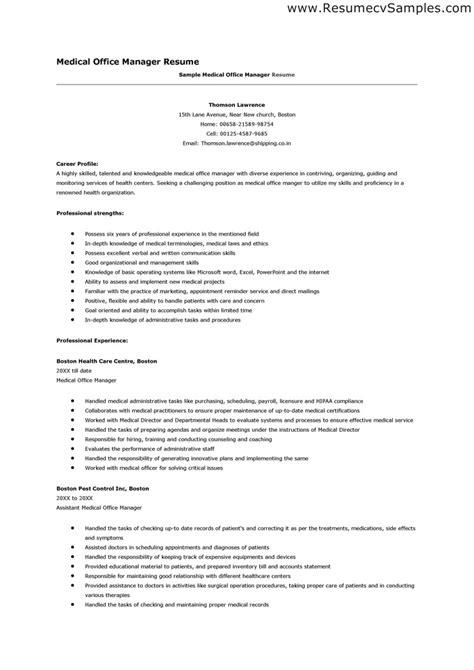 office manager resume sle marketing manager resume sle resume office staff