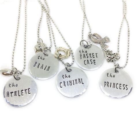 retro 80s best friend necklace for 5 friendship jewelry