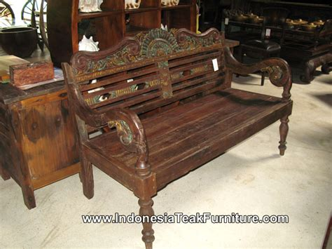 indonesian teak bench reclaimed teak wood bench furniture indonesia