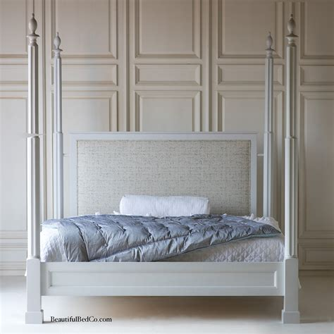 bed company finnians upholstered four poster bed by the beautiful bed