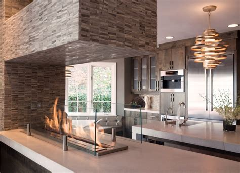 kitchen fireplace design ideas fireplace ideas freshome