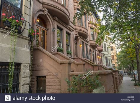 new york city ny usa historic townhouses