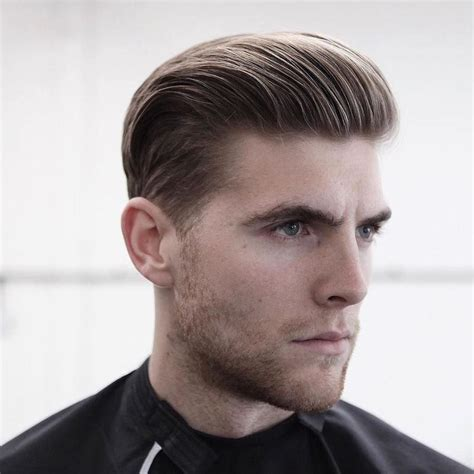 Mens Haircuts Cambridge Uk | classic slicked back parte company mens hair styles