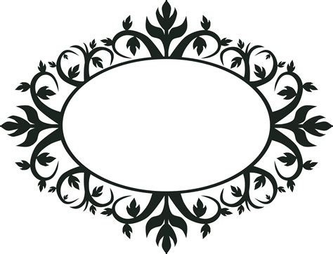 Topiary Frames - clipart ornament oval frame