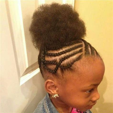 stylish cornrow puff cornrows into puff natural hair hairstyles pinterest