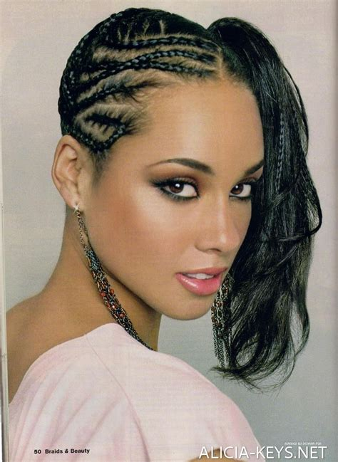 suwa african braiding hair alicia keys hairstyles canerow side ponytail hair