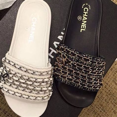 New Arrival Wedges Chanel 638 1 chanel slides authentic chanel slides email for more information chanel shoes slippers new