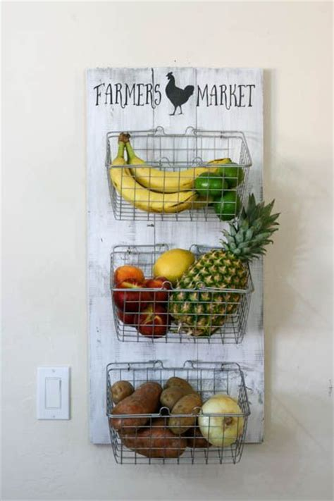 diy kitchen decor best 25 produce storage ideas on basic