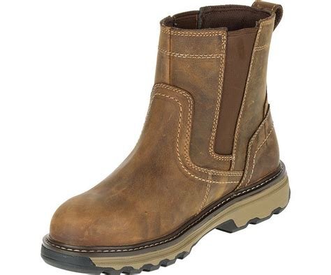 mens dealer boots for sale mens caterpillar pelton steel toe midsole safety pull on