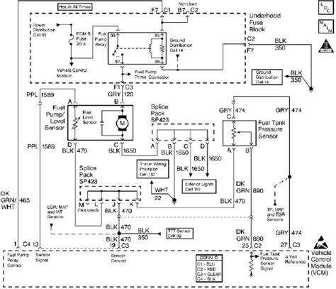 typical fuel tank pressure sensor circuit diagram