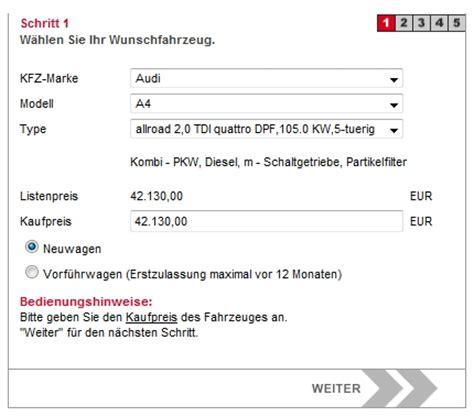 Pkw Versicherung Rechner Sterreich by Leasingrechner Bank Austria Kredit 214 Sterreich