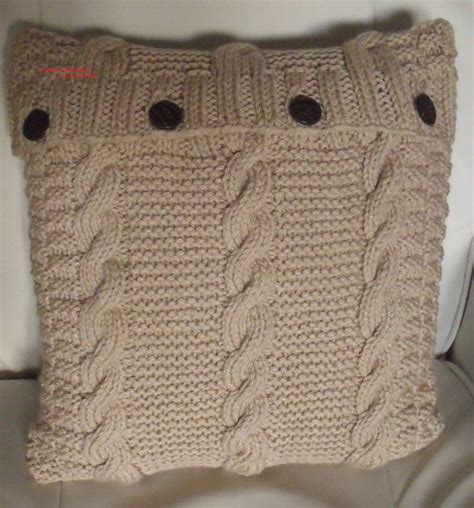 cable cushion cover knitting pattern knitting pattern cable chunky cushion cover 40cm