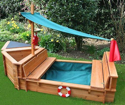 blue boat sandbox sandpit pirate ship kids and baby pinterest