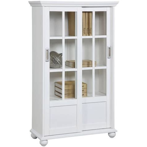 altra bookcase with sliding glass doors glass door bookcases easy home concepts
