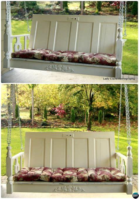 door porch swing unexpected ways to re purpose old doors into new furniture