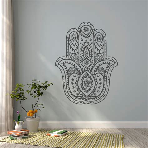Wall Decals For Bedroom Indian Hamsa Wall Decal Wall Decal Namaste Decal