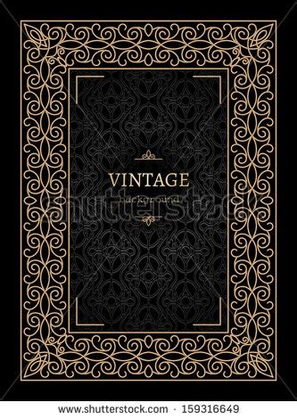 Vintage Gold Background Book Cover Vector Stock Vector 159316649 Shutterstock Book Cover Template