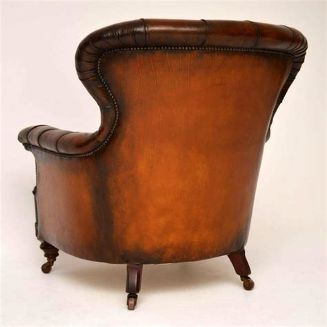 Antique Leather Armchair by Stunning Antique Leather Armchair At 1stdibs