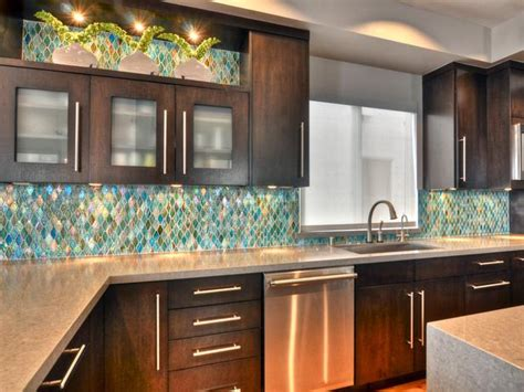 glass backsplash ideas pictures tips from hgtv kitchen ideas design with cabinets