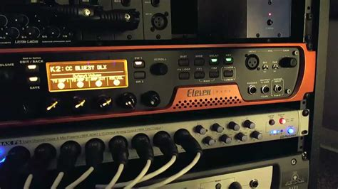 tutorial guitar effects how to use the avid eleven rack 3 front panel guitar
