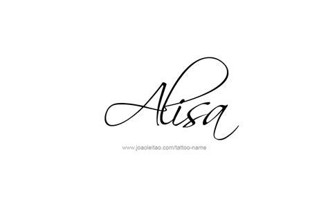 Tattoo Alisa | alisa name tattoo designs