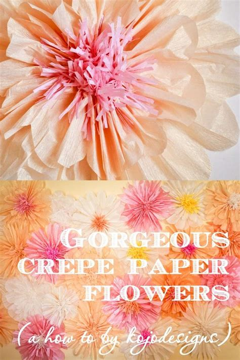 tissue paper flower wall tutorial how to make gorgeous big crepe paper flowers http kojo