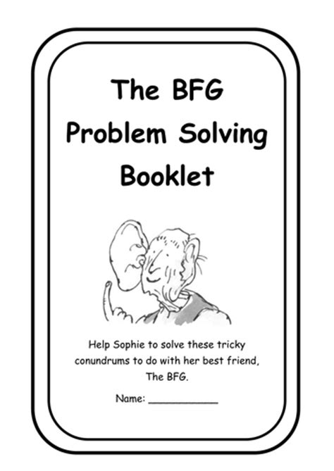 The BFG Maths Word Problems by Leesah | Teaching Resources