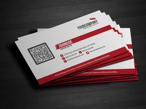Barcode Membership Card Template by Corporate Qr Code Business Card V3 By Glenngoh On Deviantart