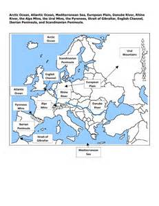 Europe Physical Map Quiz by Physical Map Of Europe Answers