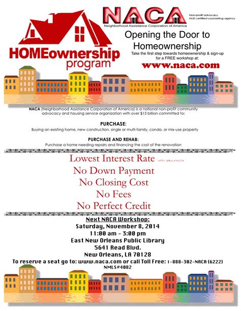 naca housing program naca housing 28 images naca announces unprecedented mortgage incentive program for