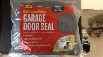 how to diy replace bottom door seal on garage door