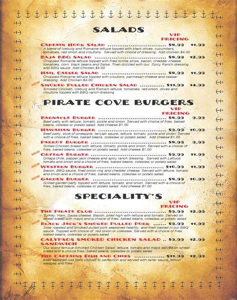 gove boat club menu menu pirate cove resort