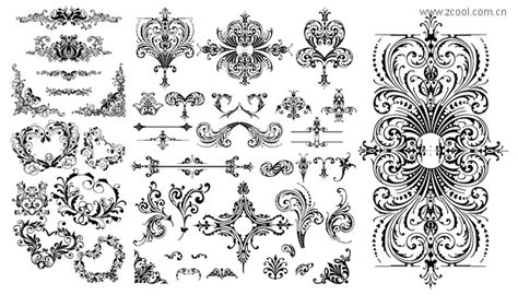 pattern design ma a variety of practical european style lace pattern vector