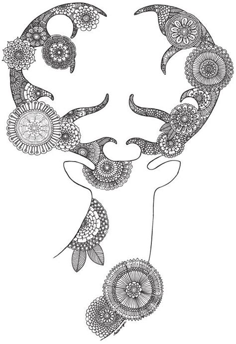 detailed deer coloring page 17 best images about colouring pages on pinterest