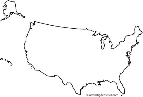 Map Of The United States With Title Coloring Page United States Map Coloring Page