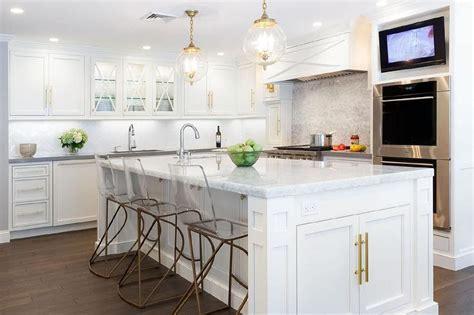 Kitchen TV Niche Over Double Ovens   Transitional   Kitchen