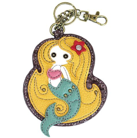 Chala Coin Purse Key Fob chala mystical mermaid key chain coin purse leather bag