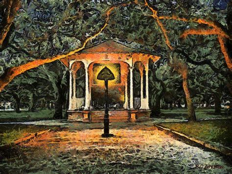 gazebo artist the haunted gazebo painting by rc dewinter