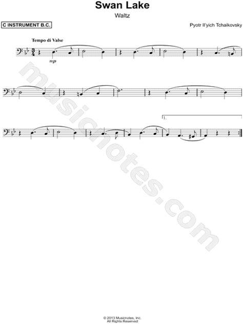 """Peter Ilyich Tchaikovsky """"Swan Lake, Op. 20 (Waltz) - Bass"""