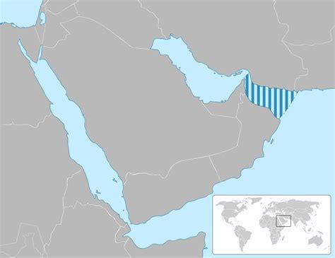 gulf map gulf of oman