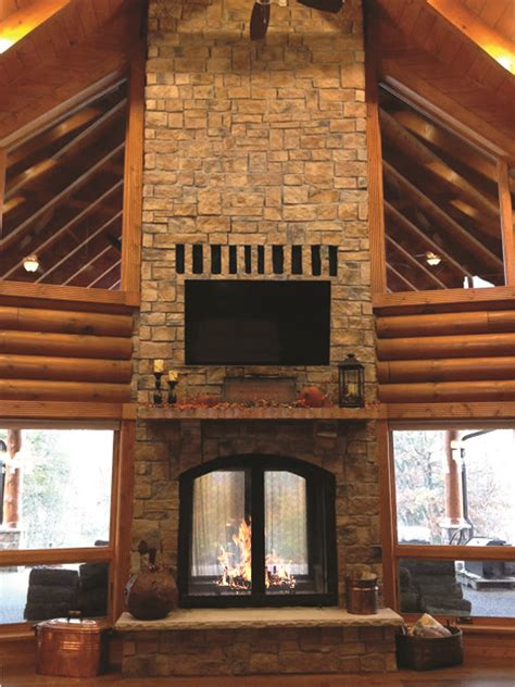 foyer bois indoor outdoor wood fireplace see thru fireplaces