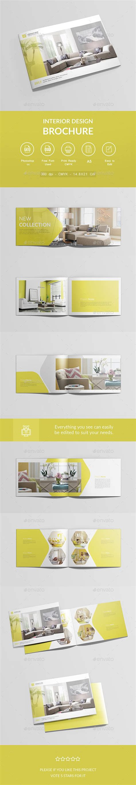 interior design brochure psd template brochure