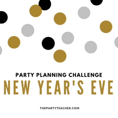 new year event planning the
